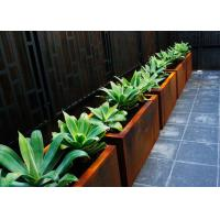 Wholesale Customized Square Metal Planters Outdoor Corten A Material 50cm Height from china suppliers