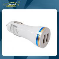 Quality CE Approval 2.1A Double USB Car Power Charger Adapter Plug for Apple and Samsung for sale