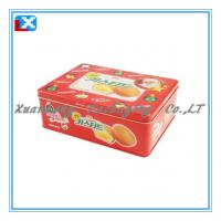 Wholesale metal rectangular biscuit tin box from china suppliers