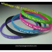 Protional Gift Custom Wrist Band Silicon Wristband Give Away silicone bracelet for sale