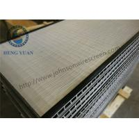 Wholesale SS 304 Grade Welded Wedge Wire Screen Sieve Plate For Coal Washer from china suppliers