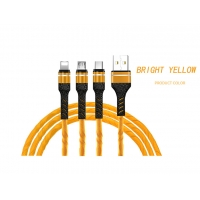 Wholesale 3 in 1 Relief 3A Fast Charging Data Cable Adapter USB Cables For iPhone, type-C from china suppliers