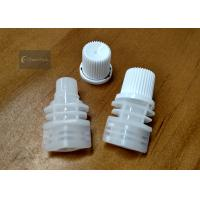 Wholesale White Color PE Pour Spout Caps Screw Type Outer Diameter 10.5 Millimeter from china suppliers
