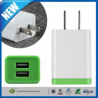 Wholesale Double Port Universal USB Power Adapter , iPhone 6 / 6 Plus / 5s SamsungTravel Wall Charger from china suppliers