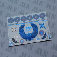 Wholesale Coloured foil metallic tattoo, Hologram metallic blue tattoo from china suppliers