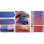 China Soft PVC Carpet Flooring , Gym Exercise Non Slip Yoga Mat Folded Pattern for sale