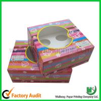 Quality Custom cupcake box with PVC window for sale