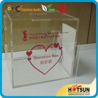 Quality acrylic suggestion/donation/complaint boxes custom in China for sale