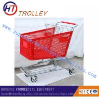 Wholesale Large Capacity Warehouse / Supermarket Plastic Shopping Carts Volume 180L from china suppliers
