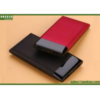 Wholesale Super Slim Mobile Power Supply Portable Power Bank 10000mAh , Red Black BLue from china suppliers