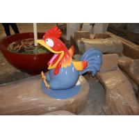Wholesale event party sculpture rooster mascot statue  strong fiberglass rooster  in garden/ plaza/ shopping mall for attraction from china suppliers