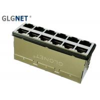 Wholesale Magnetic RJ45 Connector  2 x 6 ports 10G BASE - T RJ45 Jack Surge Protection EMI Gasket from china suppliers