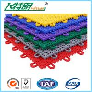 China PP Anti Aging Interlocking Rubber Floor Tiles Play Mat Flooring 2500N on sale