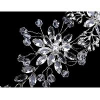 Buy cheap Fashion Silver Plating brass fabric Girls Bridal Hair Ornaments with Elegant design from wholesalers