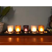 Wholesale Hot selling wooden glass candlestick set atmosphere small night light aromatherapy lamp with led from china suppliers
