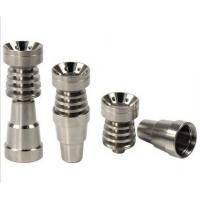 Quality Top quality 6 in 1 Domeless Titanium Nails Titan Nail with Male and Female Joint for Glass for sale