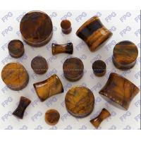 Wholesale Tiger Eye stone Ear Plug body jewelry 3-25mm Natural stone from china suppliers