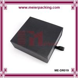 Quality Black engagement sliding cardboard paper gift packaging drawer box ME-DR019 for sale
