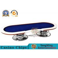 Wholesale 10 Player Casino Poker Table With Red Table Layout / Texas Holdem Poker Table from china suppliers