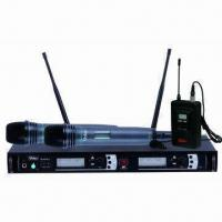 Wholesale 2x100 Channel PLL UHF Wireless System with Frequency Ranging from 620 to 950MHz from china suppliers