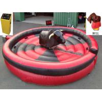 Wholesale 1 Person Inflatable Mechanical Bull , Tarpaulin Inflatable Round Mat Mechanical Rodeo Bull from china suppliers