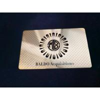 Wholesale Single Side Metal Membership Card Stainless Steel Plated Gold Cut Thru Logo Etch Text Silkscreen Print Color from china suppliers