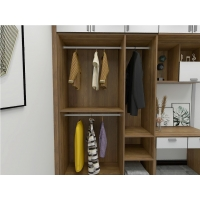 Wholesale Custom Made Cloth Wardrobe With Hinge Door And Writing Desk For Single Bedroom Furniture from china suppliers