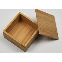 China Small Natural Storage Bamboo Gift Box With Custom Logo For Packaging for sale
