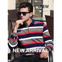 China 2019 Men's New Latest Yarn Dyed Design High Quality Long Sleeve Polo Shirt for sale