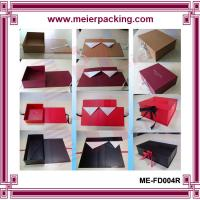 Wholesale Shoe paper box, foldable lady shoe paper boxes with ribbon, printed shoe box ME-FD004R from china suppliers