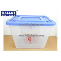 Wholesale Custom 60 Liter PP Plastic Storage Box With Wheel And Handel For Election Voting from china suppliers