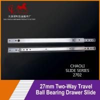 27mm Two-Way Travel Ball Bearing Drawer Slide For Medical carts 2702 for sale