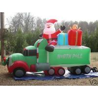 Wholesale Giant Inflatable Advertising Products Christmas Ornaments Santa Claus With Car from china suppliers