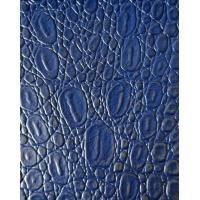 Wholesale Blue Color PU Coated Leather Thickness 0.85mm Embossed Pattern Soft Handfeeling from china suppliers