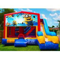 7in1 kids Despicable Me minion bounce house with basketball hoop N obstacles inside for sale for sale