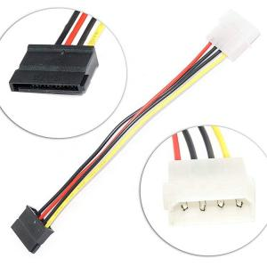 Wholesale Dual Molex 4 Pin To 8 Pin OD6mm SATA Extension Cable Hard Drive Power Cord from china suppliers