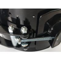 China Heavy Duty Pipe Clamps Black Spray Customizable Pipe Clamp Pipe Connector for sale