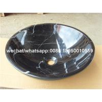 black marquina marble bathroom round sinks marble wash basin for sale