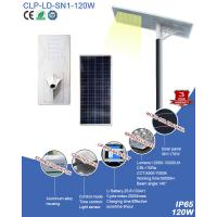 Wholesale Naturelite Outdoor 120W Integrated Solar LED Street Light With Rechargeable Batteries Back-up from china suppliers