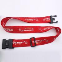 Wholesale Red Polyester Sublimation Personalised Luggage Straps With Various Accessories from china suppliers
