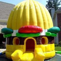 Wholesale Yellow Inflatable Bouncer Pumpkin Safety With PVC Durable Materia from china suppliers