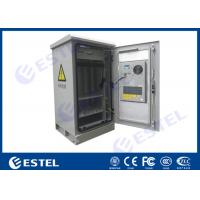 China Waterproof 24U Single Wall Insulated Outdoor Telecom Cabinet  / Temperature Control Box for sale