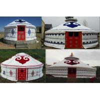 Quality White 100% Wood Frame Mongolian Yurt Tent Waterproof For Hotel Accommodation for sale