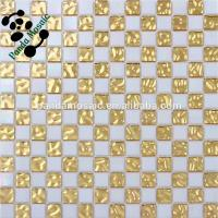China 24k Gold Glass Mosaic Tile Crystal Glass Mosaic Tile With Great Price SMG06 on sale