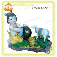 Wholesale Polyresin Indian God-Baby Krishna with Cow Pooja from china suppliers