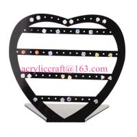 China Hot sale acrylic earrings holder fashion jewelry display rack made in china for sale