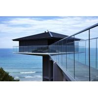 Wholesale Customized Glass Balcony Railing Prices, Aluminum U channel Railing from china suppliers