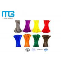 Wholesale Wiring Accessories Locking Cable Ties , Industrial Zip Ties Nylon 66 Material from china suppliers