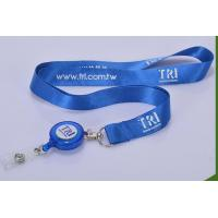 Wholesale Retractable Badge Holders Lanyards With Metal Hook / Plastic Buckle from china suppliers