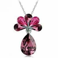 Wholesale Peacock Conception Brass Girl Fashion Jewelry Pendants Glass stone from china suppliers